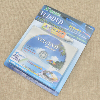 DVD/VCD Players Laser Lens Cleaner Disc Kit Scratch Dry&Wet Cleaning Fluid 1 Set