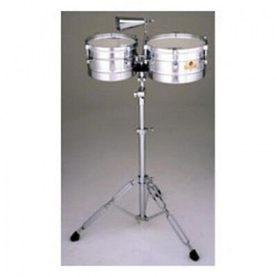 Latin Percussion Caliente Steel Timbalitos w/Tilt Stand & Cowbell