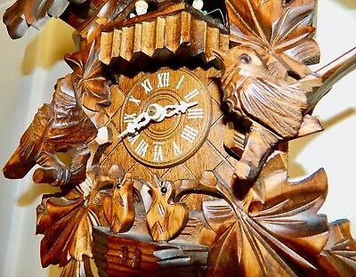 ****Absolutely Nice  Musical Black Forest Germany cuckoo clock****