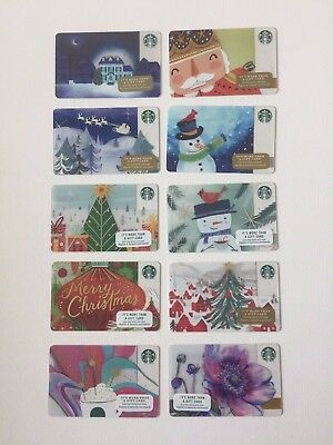 Lot of 10 Gift Cards Srarbucks  COLLECTIBLE NO VALUE  NEW