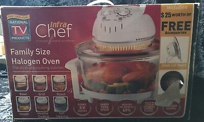 Infra Chef Family Size Halogen Convection Oven *nib*