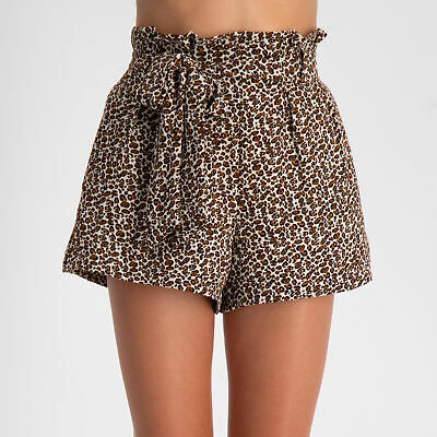 City Beach Ava And Ever Girls Ditzy Leopard Shorts