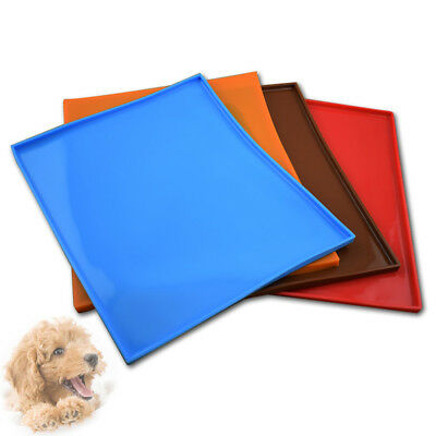 Pet Tray Mats Non Slip Spillproof Silicone Dog Cat Feeding Food