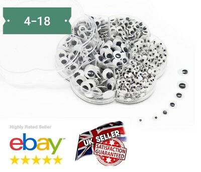BOX 700Pcs WOBBLY GOOGLY EYES. CRAFT'S PEEL OF STICKER'S TOP QUALITY UK SELLER