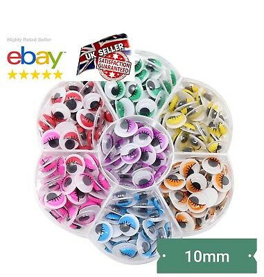 BOX 240Pcs WOBBLY GOOGLY EYES. CRAFT'S PEEL OF STICKER'S TOP QUALITY UK SELLER