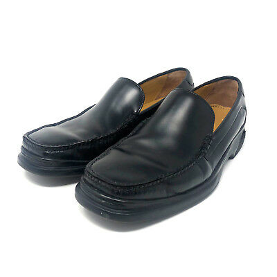 49007cb6e00 Cole Haan NikeAir Black Leather Mens Santa Barbara Loafer Slip On Shoes  Size 12