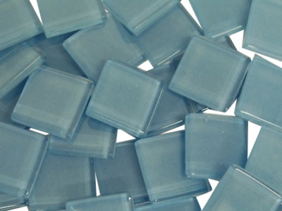 Light Blue Crystal Glass Mosaic Tiles 2cm for Art Craft Supplies