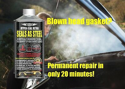 PERMANENT Head Gasket Fix - Seals As Steel HYPER SEAL Diesel and Petrol Engines
