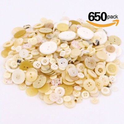 (Shell color) - Swpeet 550 Pieces Assorted Sizes Resin Buttons 2 and 4 Holes