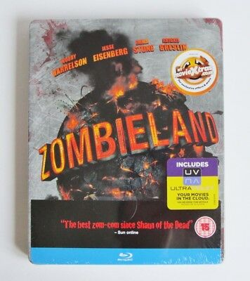 Zombieland Blu Ray - Steelbook - Uk Version - Brand New / Sealed