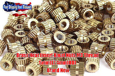M3 Brass Threaded Heat Set Inserts for Plastic 3D Printing Metal Nuts