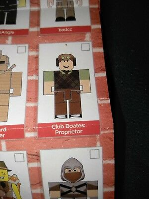 Club Boates: Proprietor ROBLOX Mini Figure with Virtual Game Code Series 4 NEW