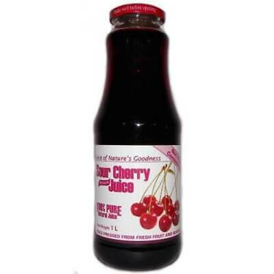100% Natural Sour Cherry Juice No Added Sugar 1000ml, Aromaproduct