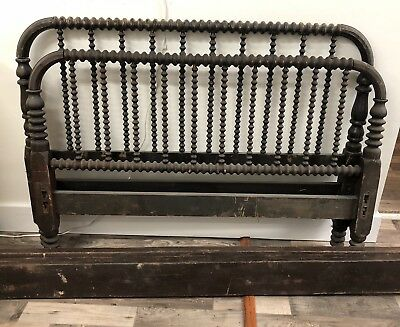 "Antique Spindle ""Jenny Lind Style"" Bed 1800's With Original Rails"
