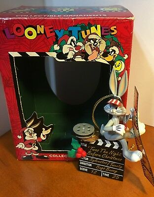 """NIB Looney Tunes Collectable Ornaments """"Twas the Night Before Christmas"""""""