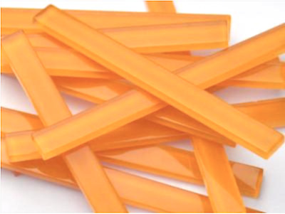 Orange Crystal Glass Mosaic Tile Strips 10x98x4mm - Art Craft Supplies
