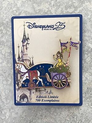 DLP Disneyland Paris 25th Anniversary Beauty And Beast Belle Parade Pin LE 700