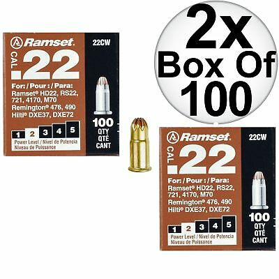 "Ramset 22CW Boxes of 100#2""Brown"" .22 cal Single Shot Loads 2-Pack"