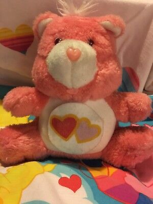 Care Bears Wish Bear Plush Piggy Coin Bank 1984 Vintage American Greetings