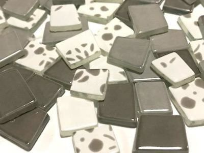 Taupe Brown Irregular Patchwork Glass Mosaic Tiles - Art Craft Supplies