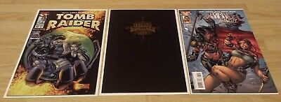TOMB RAIDER #10, 21, 47 - 3 issue lot - NM - Image - BLACK COVER