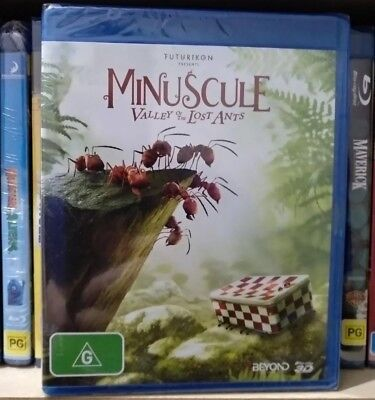 *New & Sealed* Minuscule: The Valley of the Lost Ants 3D (3-D Blu-ray)  Region B