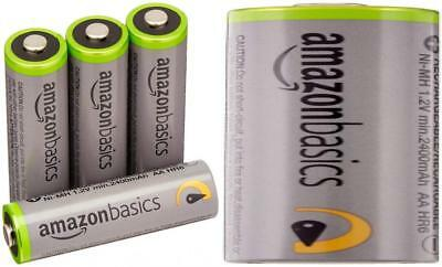 AmazonBasics AA High-Capacity Rechargeable Batteries (4-Pack) Pre-charged -...