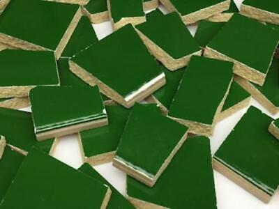 Forrest Green Irregular Ceramic Mosaic Tiles - Art Craft Supplies