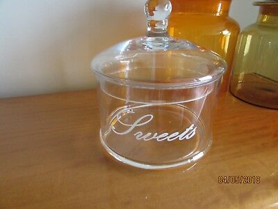 A Lovely Clear Glass Sweets Apothecary Jar