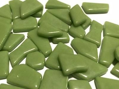 Green Irregular Gloss Glass Mosaic Tiles - Art Craft Supplies