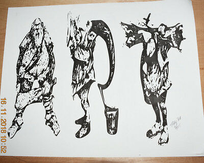 """Artist Signed, Limited, Numbered Print """"Art"""" 11x14 (only 25 ever printed)"""