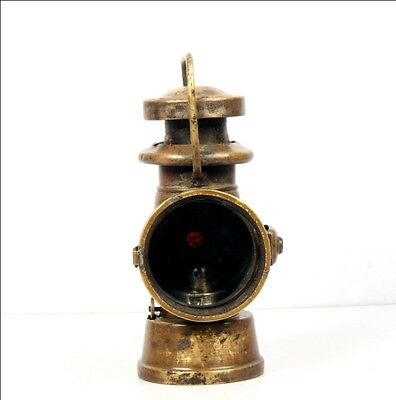 Vintage Old Brass  Howes & Burley Model 1029 Oil Illuminated Side Lamp 6688