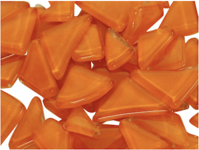 Orange Crystal Glass Mosaic Tile Irregular Shaped - Art Craft Supplies