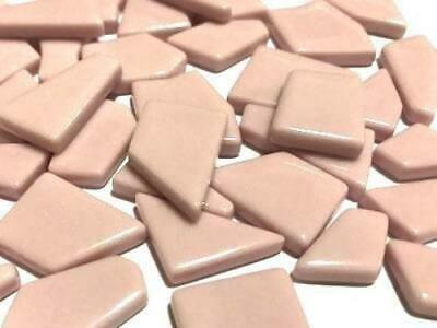 Pink Irregular Shaped Gloss Glass Mosaic Tiles