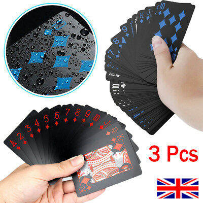 Waterproof Poker Playing Cards Plastic PVC Poker Games Creative Gift Durable UK