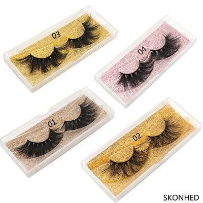 Fluffy Eye Lashes Extension Thick Volume 100% Real 3D Mink Hair False Eyelashes
