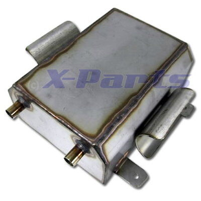 3,5 Litre Stainless Steel Catch Tank Fuel Tank 1/4 Mile Turbo Fuel Tank E85 New