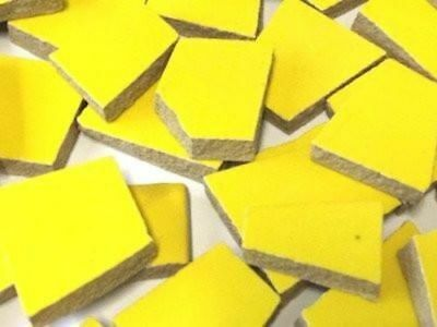 Yellow Irregular Shaped Ceramic Mosaic Tiles - Art Craft Supplies