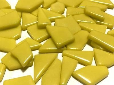 Yellow Irregular Shaped Gloss Glass Mosaic Tiles - Art Craft Supplies