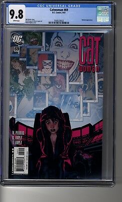 Catwoman (2002) # 69 - CGC 9.8 White Pages - Adam Hughes Cover - Batman appear