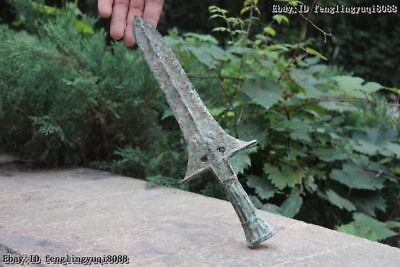 Chinese Ancient Warring States Bronze Copper Cavalryman Weapon Long Lance Spear