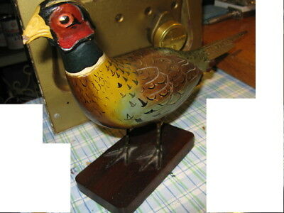 Beautiful Hand Carved Pheasant Bird Signed By William Ellis  1985