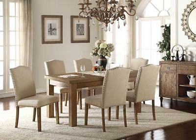 Acme Furniture Parker 7 Piece Antique Dining Room Set