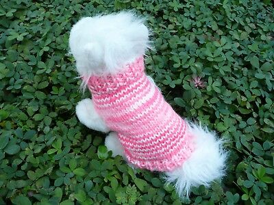XXS handmade knit  dog sweater