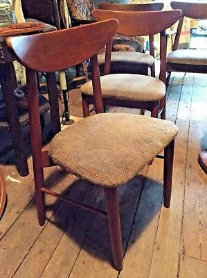 4 vintage mid century modern dining chairs 1960s danish style in new hampshire