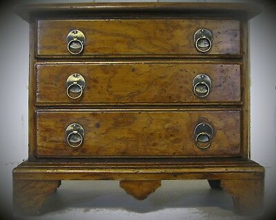 Apprentice piece Queen Anne chest antique reproduction oak