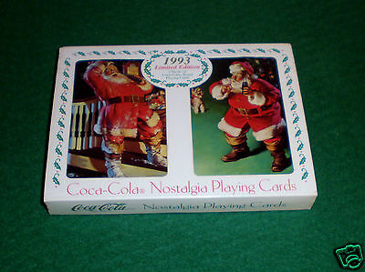 "1993 Coca-Cola Ltd.Edition ""Nostalgia Santa"" Playing Cards/Sealed/Double Deck"