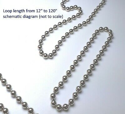 4.5mm Blind Metal Bead Continuous Endless Chain Loop for Clutch Roller Shades