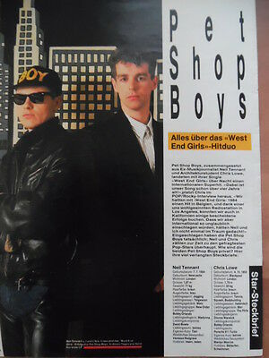 PET SHOP BOYS 4x A4 + Sticker Bravo Clipping 312