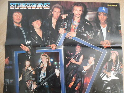 SCORPIONS + KEVIN COSTNER BRAVO Super-Poster 52 x 40 cm Clipping 56